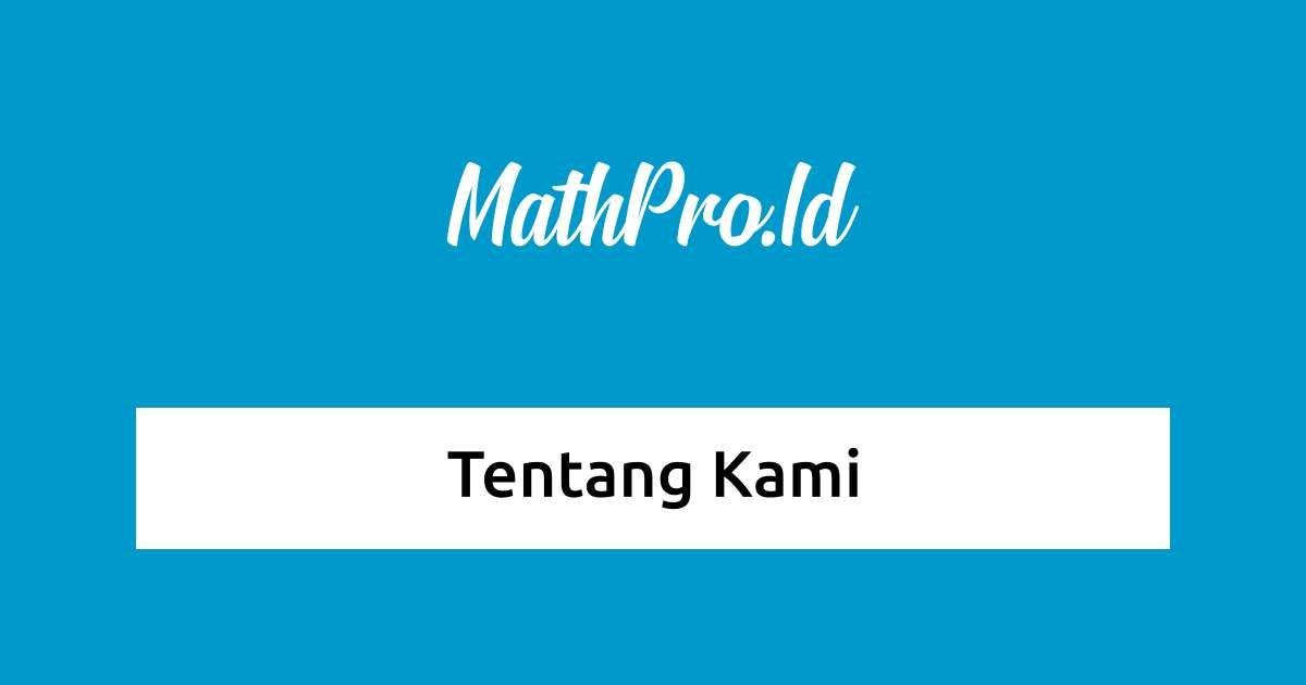 Mengenal Situs Web MathPro.Id